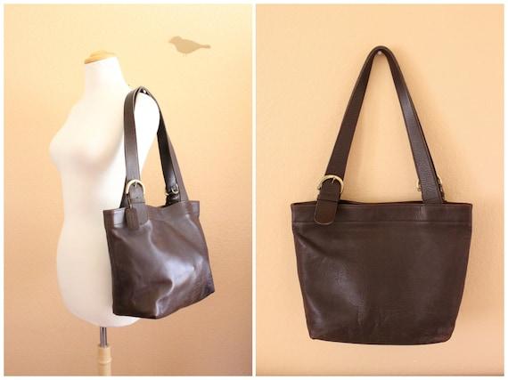 Vintage Coach Brown Color Leather Shoulder Bag /CH-1000