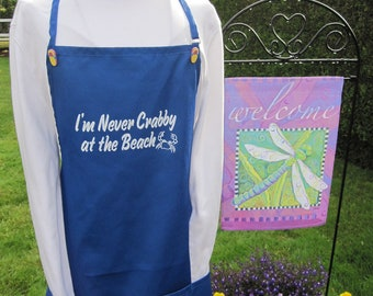 Be the hit of the beach with your never crabby at the beach apron