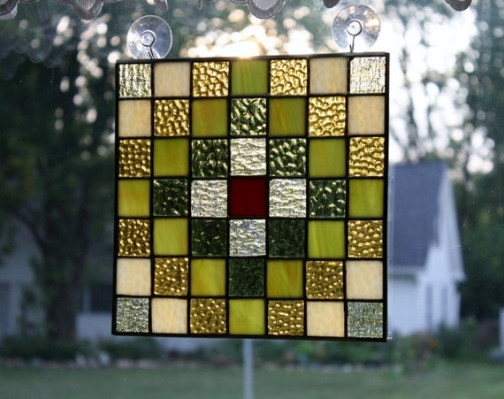 Sale-Black Friday/Cyber Monday Sale-Stained Glass Suncatcher Quilt Blocks