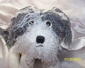 Cute fluffy crochet dog ANY colors you want