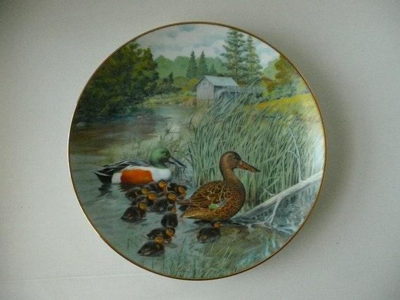 """Bart Jerner """"The Northern Shoveler"""" China Collector Plate"""