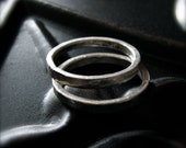 rustic sterling silver stacking rings - reserved for kim