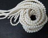 3 str -Sponge White Coral 4mm Round Beads--90pcs/Strand