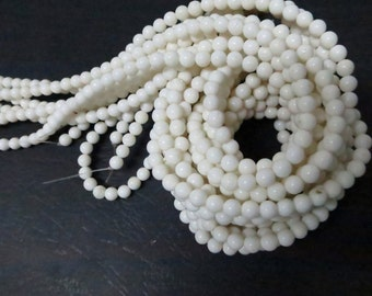 3 str -Sponge White Coral 4mm Round Beads--90pcs/Strand