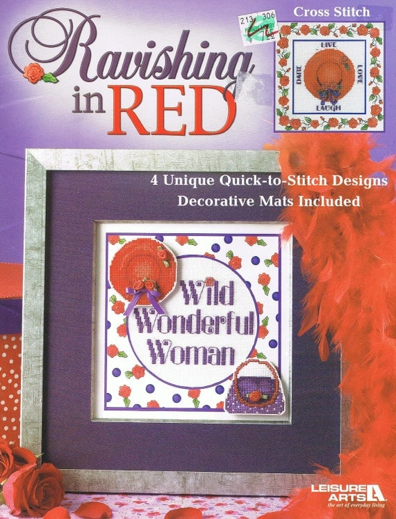 RAVISHING IN RED - Counted Cross Stitch Book for the Red Hat Lady
