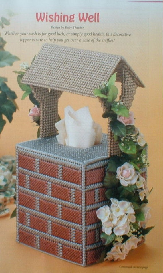 Wishing Well Tissue Box Cover Forget Me Not Tissue Topper