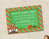 PRINTABLE Back to School Party Invitation - yourblissfulday