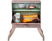 Vintage Shoe Shine Box 1930 Industrial Metal