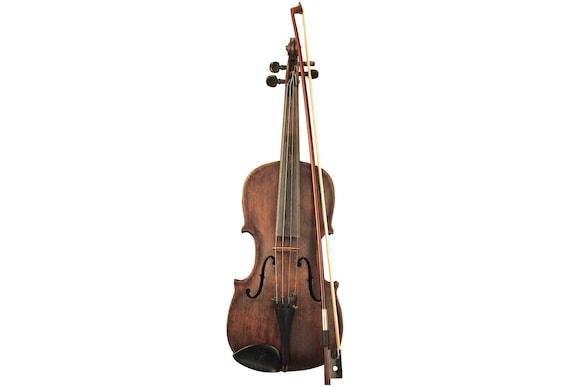 Antique Violin 1/8 Bow Wooden Case Rustic