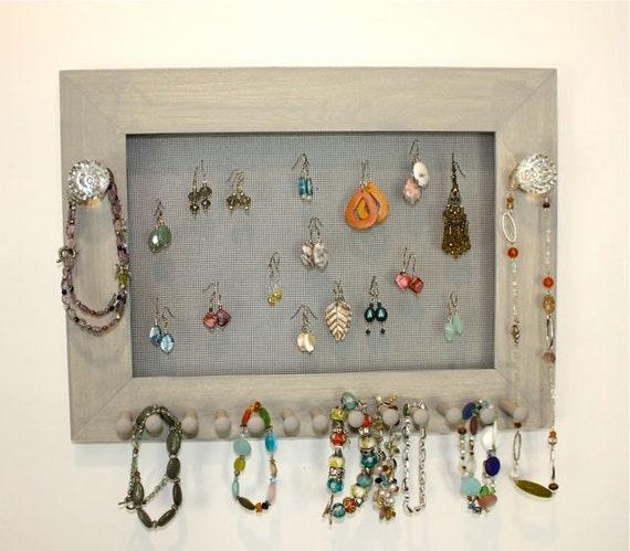 Jewelry Screen Frame - Earring Holder Organizer.