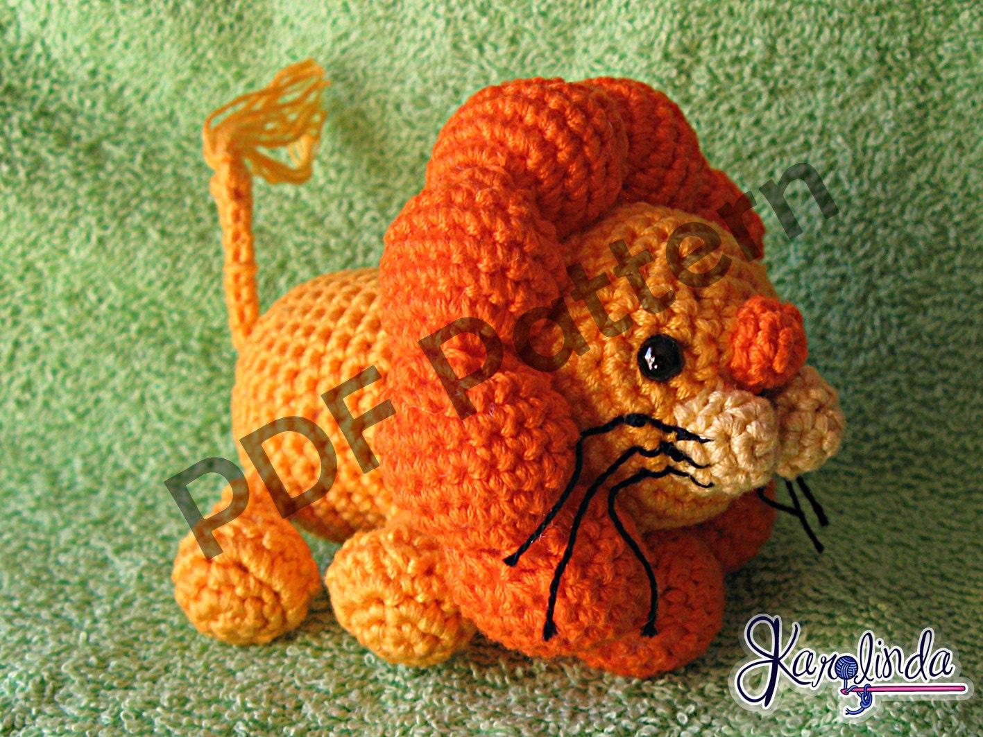 Amigurumi Patterns Lion : Amigurumi Lion PDF Crochet Pattern by karolinda on Etsy