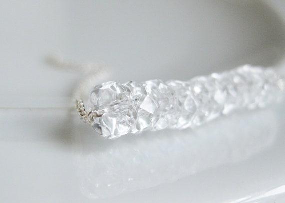 40% OFF! Faux diamond Silver bracelet. Stretch Bracelet. Crystal clear Czech Glass jewelry. Weddings Black Tie Affairs or Everyday Elegance