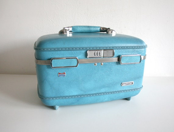 Sky Blue Train Case