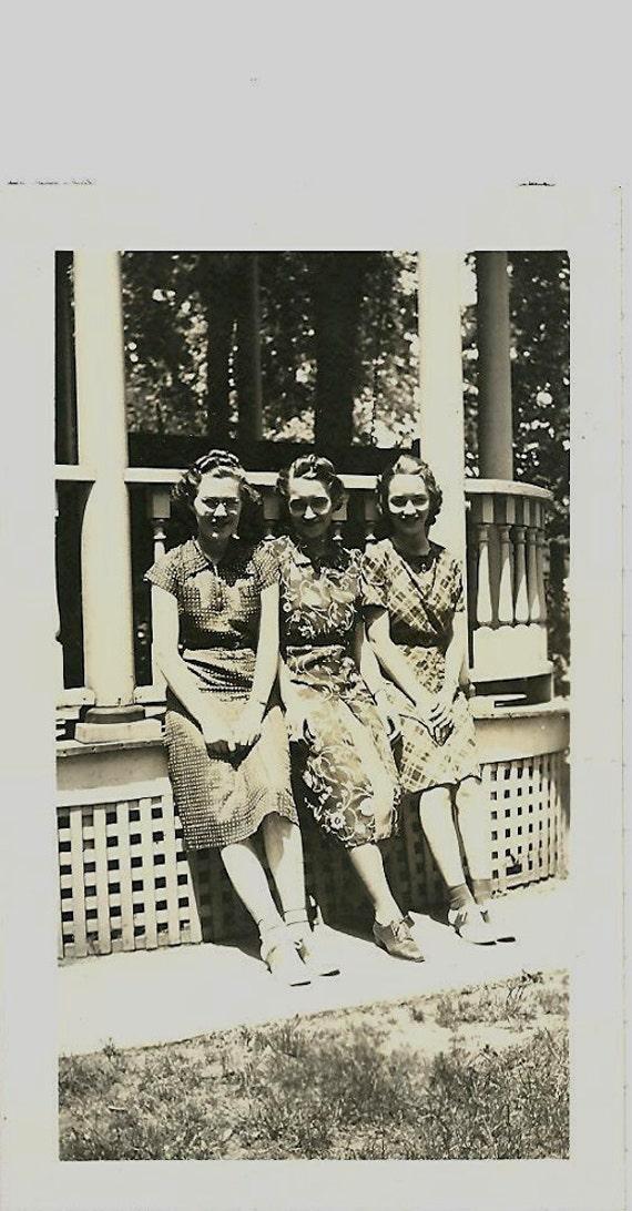 Old Photo - Three Women - Jul 11 1939