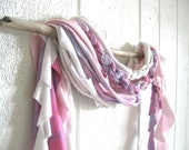 Eco Friendly. Upcycled T-Shirt. Winter Fashion. Garden Fresh Flowers. Tie Dye. Scarf Set. FREE Shipping