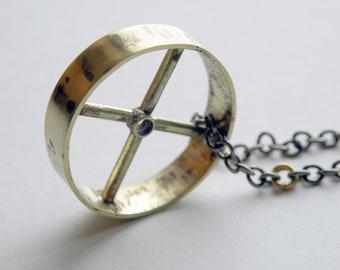 Brass Wheel Necklace