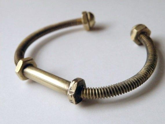 Brass Bolt Bracelet