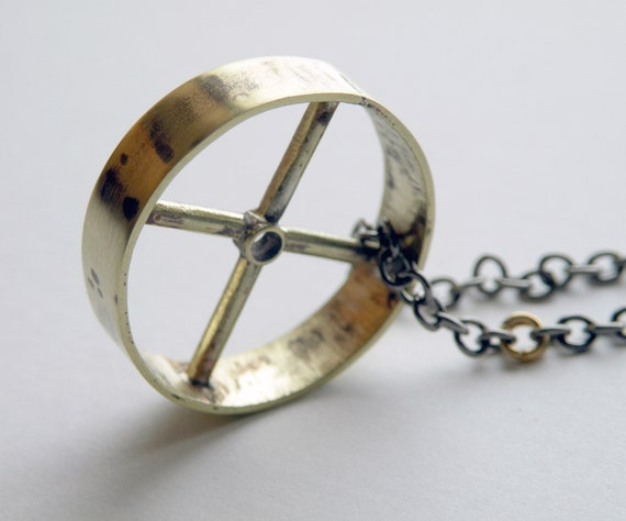 Brass Wheel Necklace