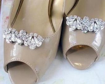 Bridal Shoe Clips ,Crystal Rhinestone Shoe Clips, wedding Shoe Clips, Jewelry crystal shoe clips, vintage style, wedding  Shoe accessories