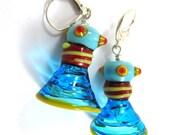 SariGlassman - Sea Wind Jellyfish Earrings - OOAK - SRA