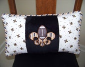 Fleur de lis Football Appliqued Pillow