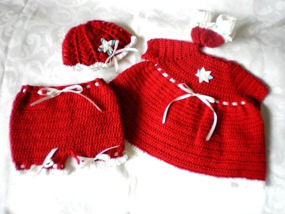 Cranberry Surprise Newborn Dress Set