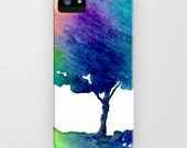 Watercolor Phone Case - Hue Tree Painting - Cell Phone Cover - Designer iPhone Samsung Case
