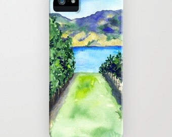 Vineyard Phone Case - Winery Landscape Painting - Cell Phone Cover - Designer iPhone Samsung Case