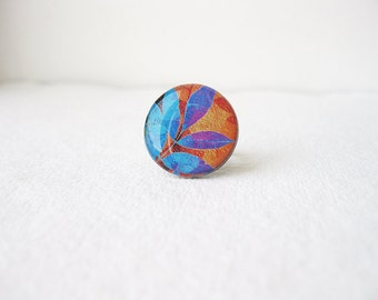 FREE WORLDWIDE SHIPPING - Whimsical Foliage adjustable Clay Ring