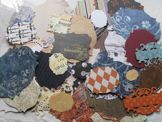 NEW Die Cut Assorted Sizes and Papers Scrapbooking