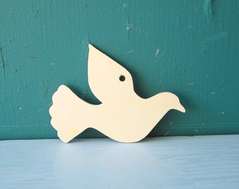Gift Tags Wooden Dove Unfinished For Craft Projects