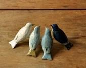Hand Painted Wooden Bird