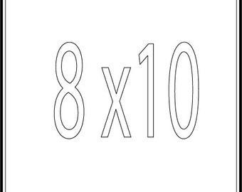 8x10 print ANY CITY
