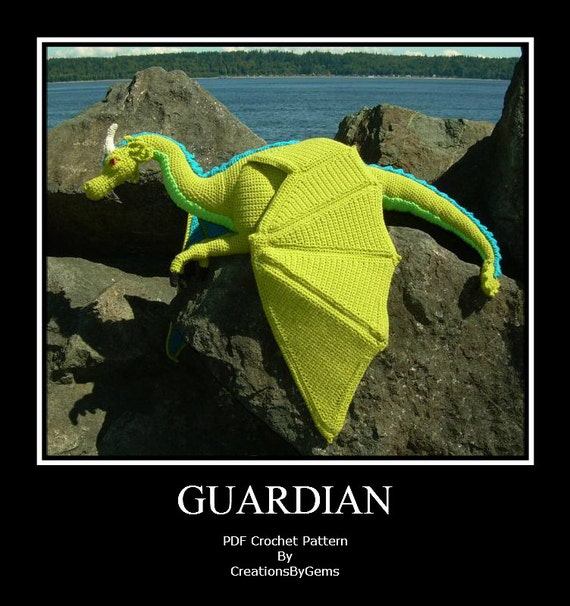 Guardian the Dragon PDF Crochet Pattern by CreationsByGems