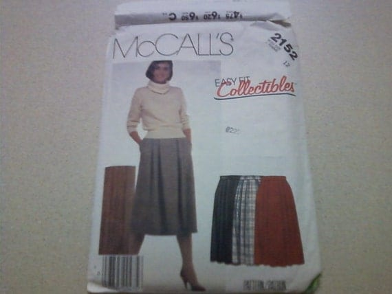 McCalls pattern 2152 skirt from 1985