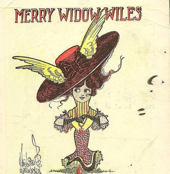 Merry Widow Wiles  Walter Wellman Vintage Postcard advertising D. McRae's WARDSVILLE Ontario