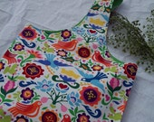 Colorful bird sling bag - tote or purse for springtime