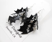 Colony of Bat Earrings.  LP Vinyl Records - Recycled.  Halloween