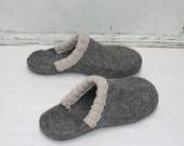 Felted men slippers  - men house shoes - Felted slippers for men - felted wool clogs - 100 % organic wool - Valentine's day gift