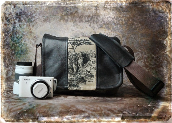 Leather Camera Bag - NEW SIZE - Mirrorless Compact Camera System Video Bag - In Stock