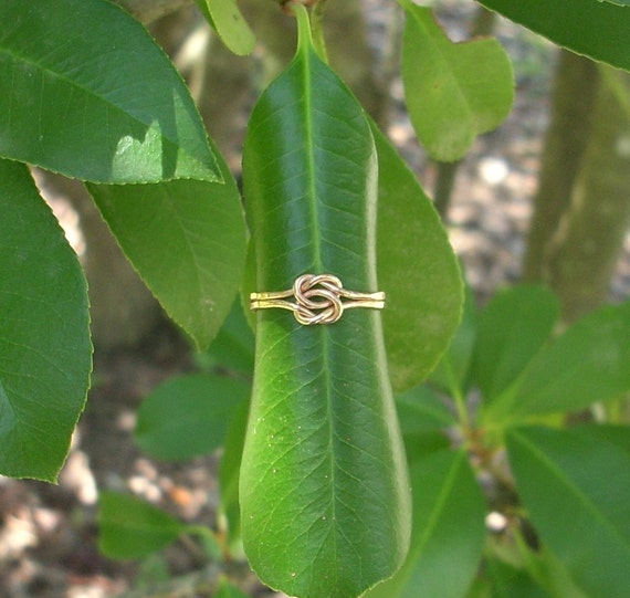 14k Rose Gold Knot Ring/ Lover's Knot