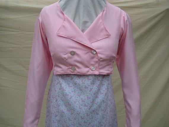 SALE Regency Spencer Jacket/ Coat. Jane Austen. Pink Silk. READY to SHIP