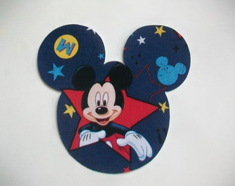 DIY - No Sew Mickey Mouse Fabric Applique  - Iron On