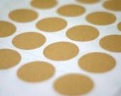 Kraft Paper Stickers - 1.50inch (38mm) round Label Sticker Seals