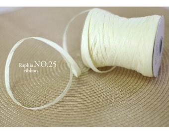 Raffia Ribbon -Ivory (swp0158)