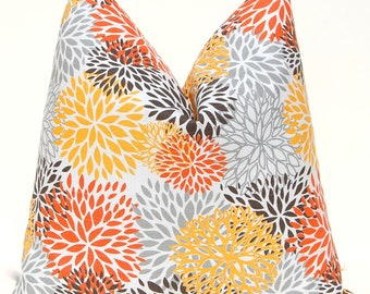 Pillow Covers Accent Pillows Cushion Covers 18 x 18 Inches Orange and Brown Premier Prints Rosa Suzani