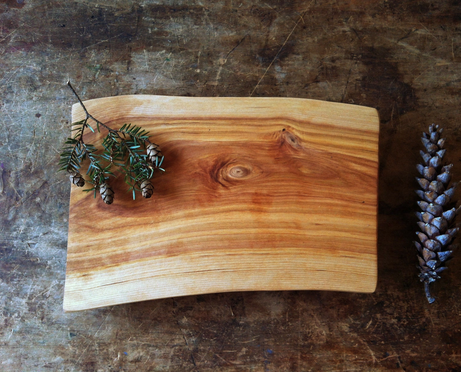 Cutting Board Serving Tray Rustic Birch Cheese Board Salvaged