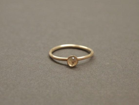 White Topaz Rose Cut Gold Ring - Size 7 rose cut, gold filled, white topaz, clear topaz, gold filled rings