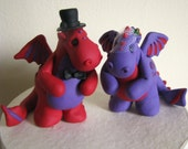 Dragon Love wedding cake topper