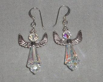 Crystal Angel Earrings